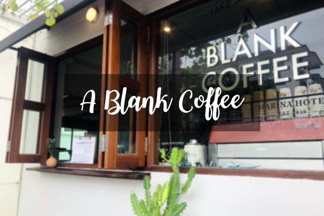 A BLANK COFFEE
