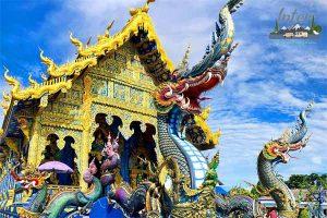 วัดร่องเสือเต้น มหัศจรรย์วิหารสีน้ำเงิน Blue Temple ที่เที่ยว เที่ยวเชียงราย เที่ยววัดร่องเสือเต้น